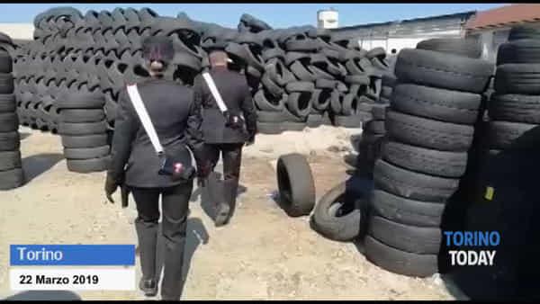 Scoperta discarica abusiva: stoccati 20.000 pneumatici e 300 tonnellate di rifiuti pericolosi