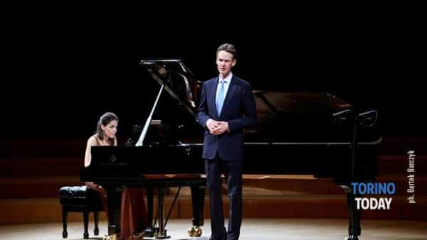 Il tenore Ian Bostridge e la pianista Saskia Giorgini all'Accademia di Pinerolo