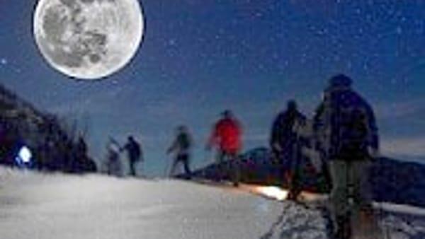 """""""Ciaspole e luna piena"""" a Bardonecchia"""