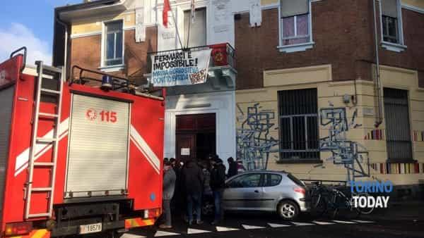 Torino incendio ex Baldracco corso Cirie 13 12 19 1-2
