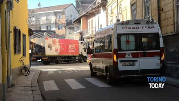 Volpiano incidente camion -bici-2
