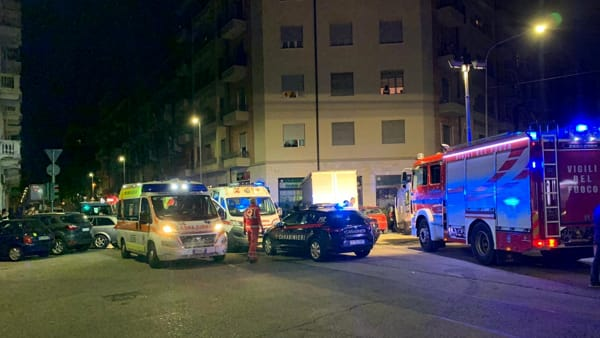 Gli attimi successivi all'incidente