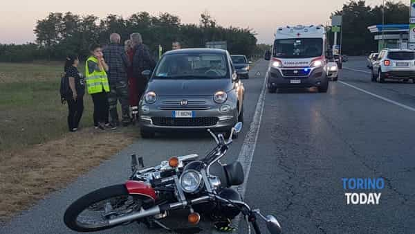 La scena dell'incidente in frazione Sant'Antonio