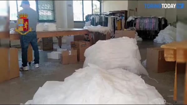 Scoperto laboratorio tessile abusivo: 16 operai in nero cucivano camici e mascherine