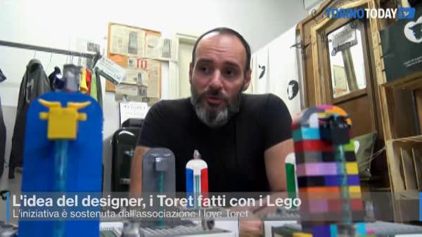 Il Toret è fatto con i mattoncini Lego: l'idea del designer (Video)