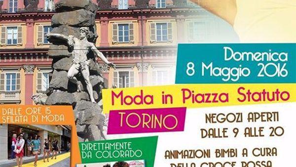 """""""Moda in piazza Statuto"""": la mamma si festeggia in passerella"""