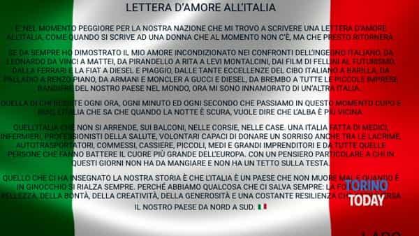 Torino Lettera Amore Italia Coronavirus Lapo Elkann-2