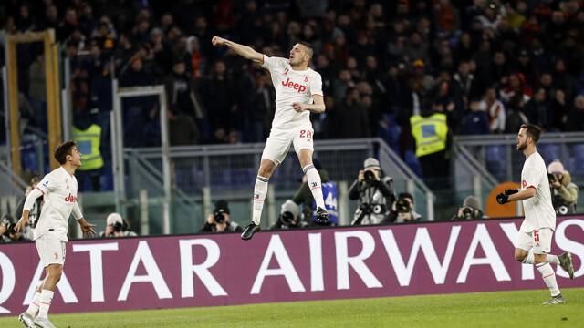 Video gol e sintesi partita Roma-Juventus 1-2: Demiral, rigore Ronaldo, rigore Perotti
