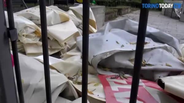Torino dice addio alla mongolfiera: smontato e fatto a pezzi uno dei simboli della città