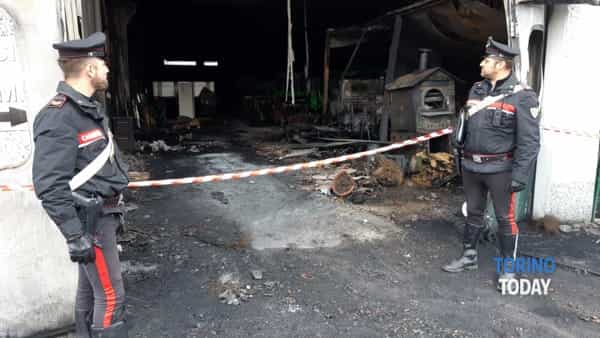 Riva presso Chiera incendio azienda 9 10 11 1-2