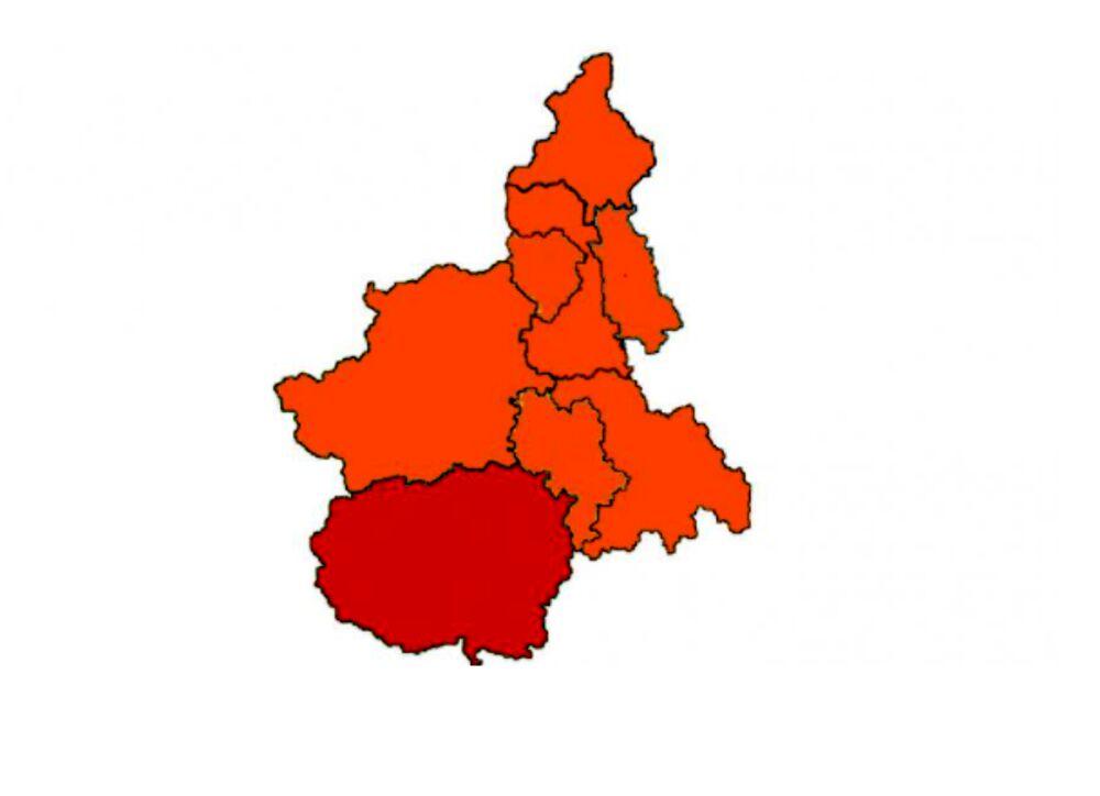 Regione Piemonte Cartina Politica.Coronavirus Piemonte Provincia Di Cuneo In Zona Rossa Fino Al 18 Aprile 2021