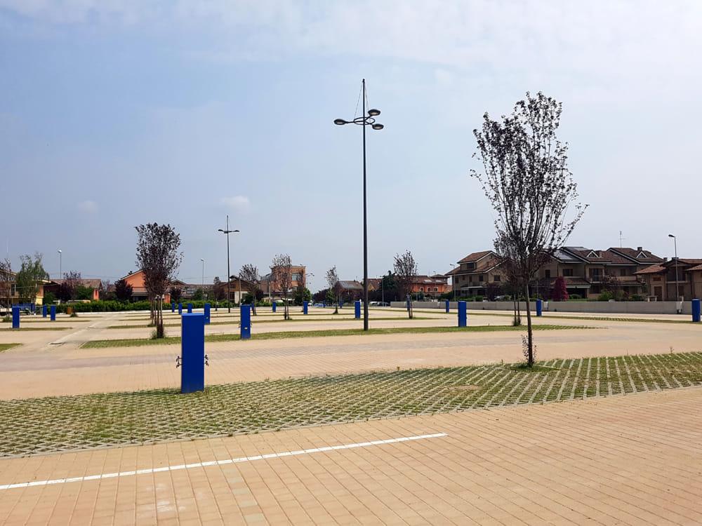 La nuova piazza Italia a Volpiano