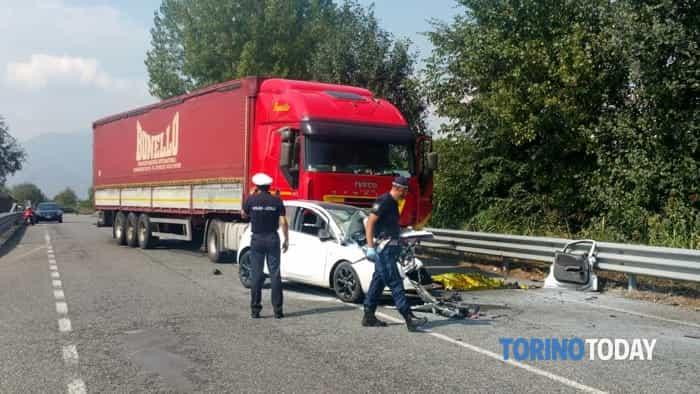 Pianezza mortale variante ss24 Opel Tir 10 settembre 2018 1