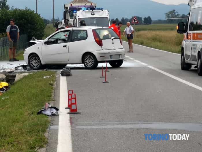Caluso scontro auto scooter morto motociclista (1)