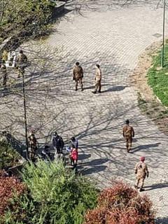Torino esercito nei parchi Coronavirus 2 Sabina Panarelli-2